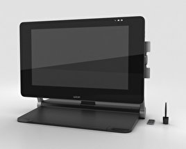 3D model of Wacom Cintiq 27QHD Touch