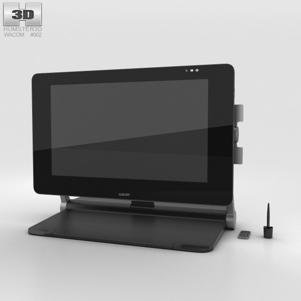 3D model of Wacom Cintiq 27QHD Touch