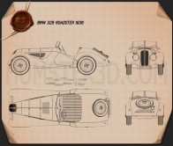BMW 328 1936 Blueprint