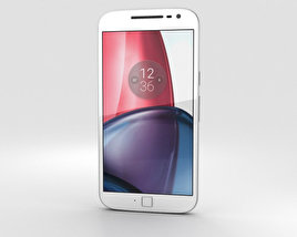 3D model of Motorola Moto G4 Plus White