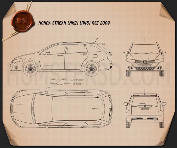 Honda Stream RSZ 2009 Blueprint