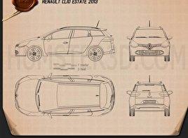 Renault Clio IV Estate 2013 Blueprint