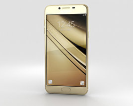 3D model of Samsung Galaxy C7 Gold