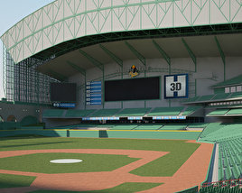 3D model of Minute Maid Park