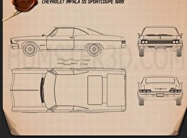 Chevrolet Impala SS Sport Coupe 1966 Blueprint