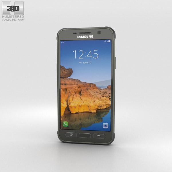 Samsung Galaxy S7 Active Camo Green 3D model