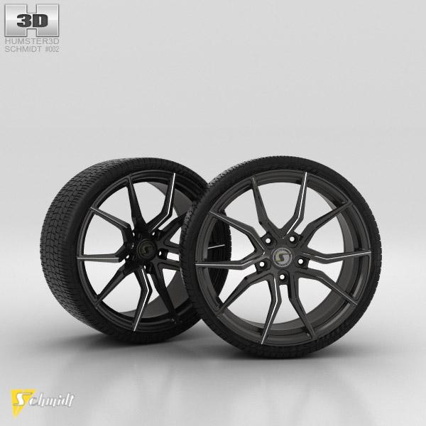 Schmidt Drago Black Chrome 3d model