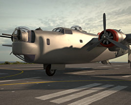 3D model of Consolidated B-24 Liberator