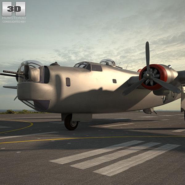 Consolidated B-24 Liberator 3D model