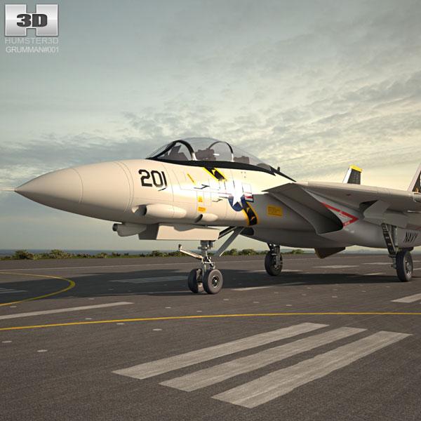 3D model of Grumman F-14 Tomcat