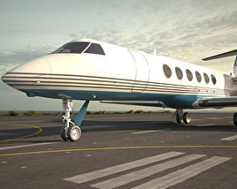 3D model of Gulfstream V