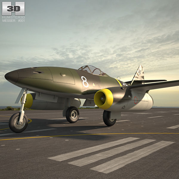 3D model of Messerschmitt Me 262