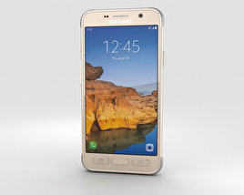 3D model of Samsung Galaxy S7 Active Sandy Gold