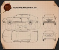 Skoda Superb 2014 Blueprint