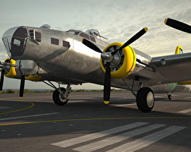 3D model of Boeing B-17 Flying Fortress