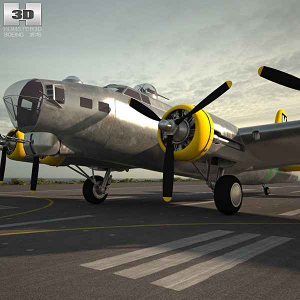 Boeing B-17 Flying Fortress 3D model