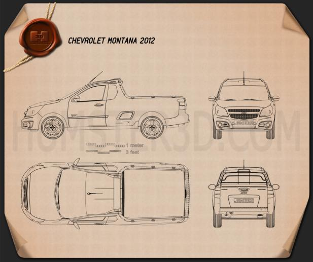 Chevrolet Montana (Tornado) 2012 Blueprint
