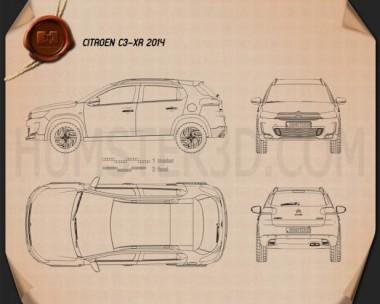 Citroen C3-XR 2014 Blueprint