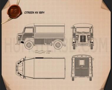 Citroen H Van 1964 Blueprint