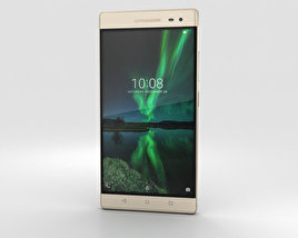 3D model of Lenovo Phab 2 Pro Champagne Gold