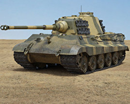 3D model of Tiger II