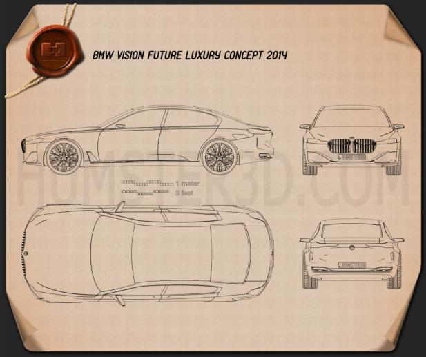 BMW Vision Future Luxury 2014 Blueprint