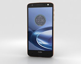 Motorola Moto Z Force Black Rose Gold 3D model