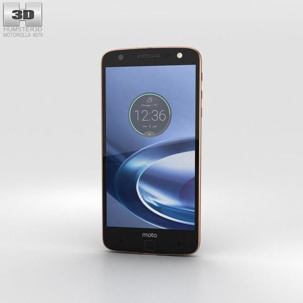 Motorola Moto Z Force Black Rose Gold 3D model