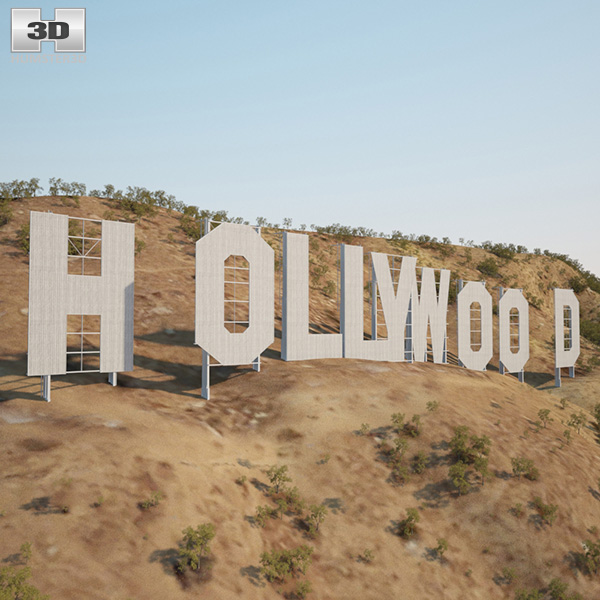 3D model of Hollywood Sign