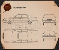 Lexus ES 1989 Blueprint