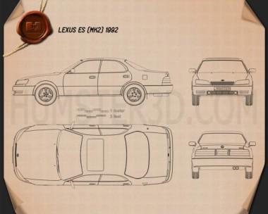 Lexus ES 1992 Blueprint