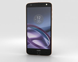 3D model of Motorola Moto Z Black Rose Gold