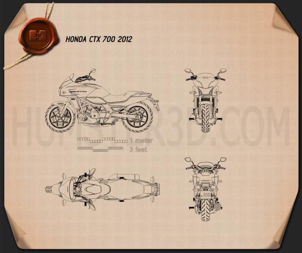 Honda CTX700 2012 Blueprint