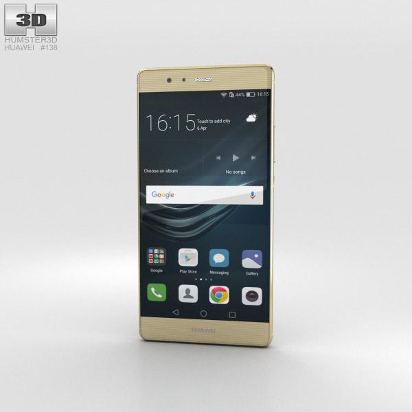 Huawei P9 Plus Haze Gold 3D model