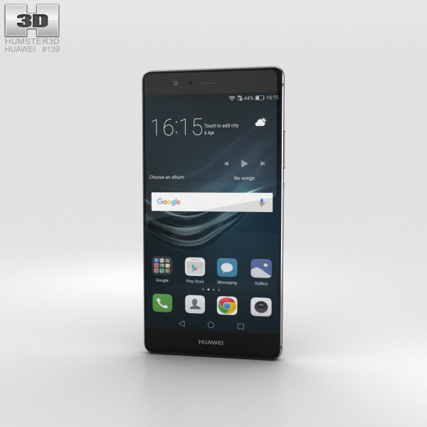 Huawei P9 Plus Quartz Grey 3D model