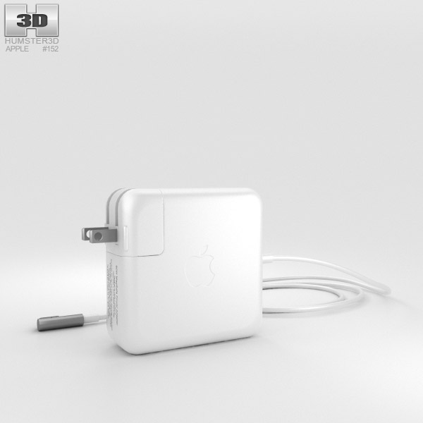 Apple 60W MagSafe Power Adapter 3D model