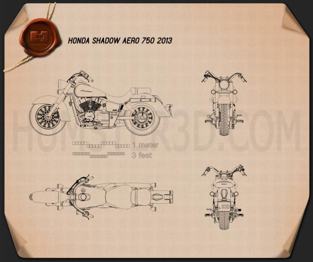 Honda Shadow Aero 750 2013 Blueprint