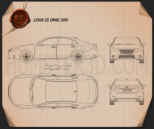 Lexus ES 2013 Blueprint