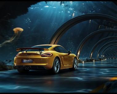 Porsche - Underwater road
