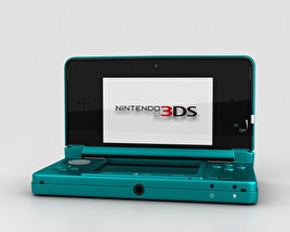 3D model of Nintendo 3DS