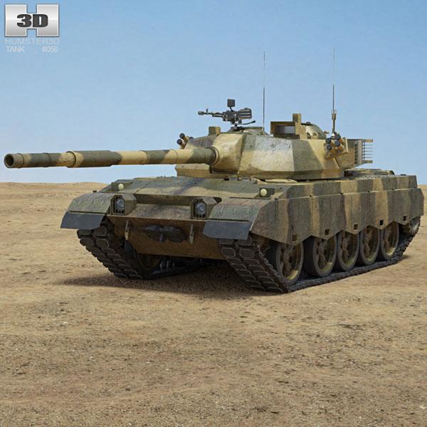 Al-Zarrar Tank 3D model
