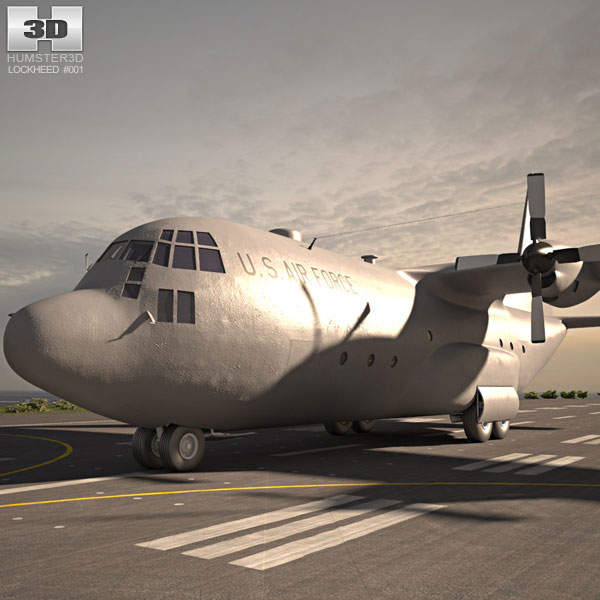 C-130 ハーキュリーズ 3Dモデル