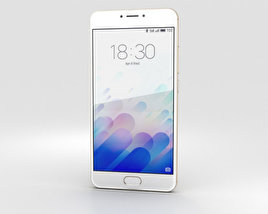 3D model of Meizu M3 Note Gold