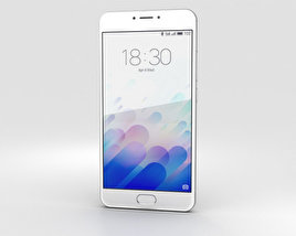 3D model of Meizu M3 Note White