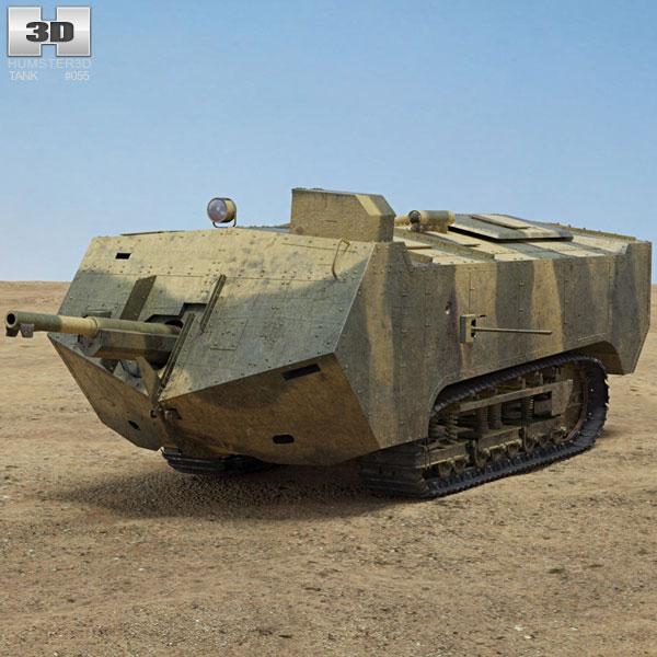Saint-Chamond Tank 3D model