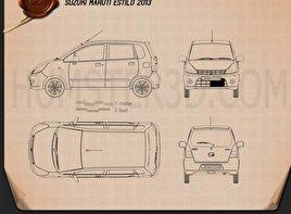 Suzuki (Maruti) Estilo 2013 Blueprint