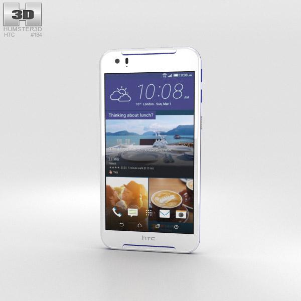 HTC Desire 830 White/Blue 3D model