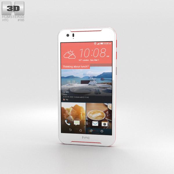 HTC Desire 830 White/Red 3D model