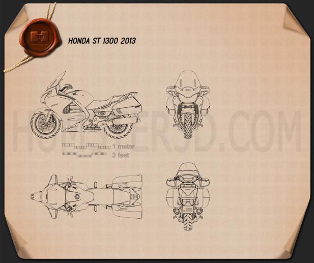 Honda ST1300 2013 Blueprint