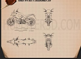Honda VFR800X Crossrunner 2011 Blueprint